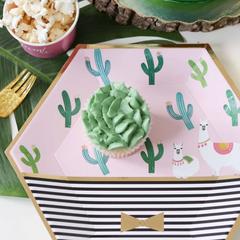 Llama & Cactus Plates