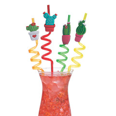 Cactus Silly Straws
