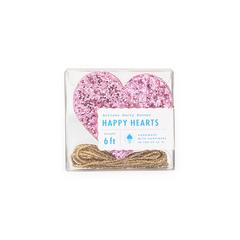 Pink Glitter Heart Banner