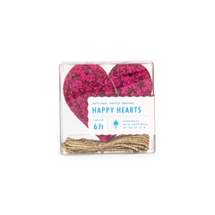 Wildberry Glitter Heart Banner