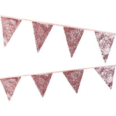 Luxe Pink Glitter Cloth Bunting