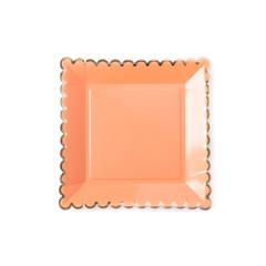 "Scalloped Blush Plates, Large 9"""