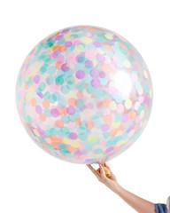 """Pastel Rainbow Jumbo Confetti Balloon, 36"""""""