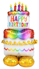 Birthday Cake Airloonz Balloon, 60""