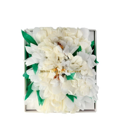 White Blossom Flower Garland