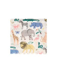 Safari Animal Napkins, Large