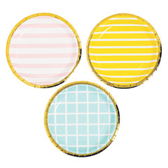 Pastel Plates Stripes & Grids, Small