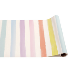 Table Runner, Sorbet Painted Stripes