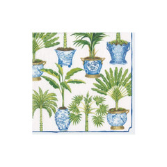 Potted Palms White, Cocktail Napkin