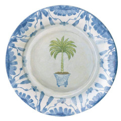 Potted Palms White, Dinner Plates
