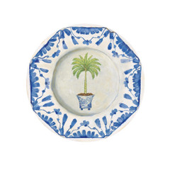 Potted Palms White, Small Plates