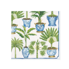 Potted Palms White, Napkins Large
