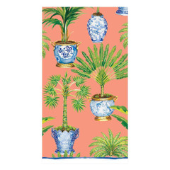 Potted Palms Coral, Guest Towels
