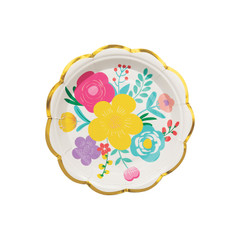 Floral Fiesta Plates, Small