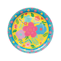 Floral Fiesta Plate, Large