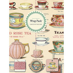 Cavallini Tea & Sweets Gift Wrap Pack