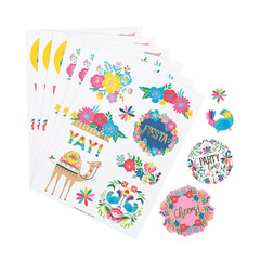 Fiesta Floral Stickers