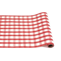 Table Runner, Red Painted Check