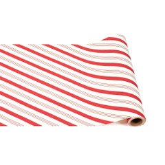 Table Runner, Red Candy Stripe