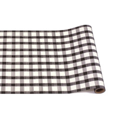 Table Runner, Black Painted Check