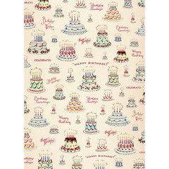 Happy Birthday Cake Wrapping Paper