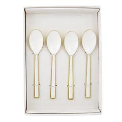 White & Gold Enamel, Spoons