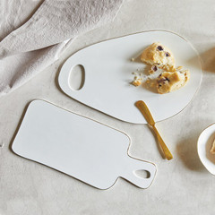 Ceramic Rectangle Tray, White