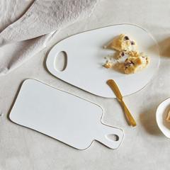 Ceramic Rectangle Tray, White