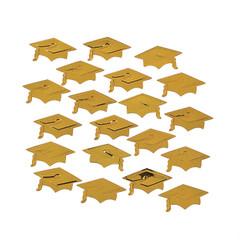 Graduation Mortarboard Confetti, Gold