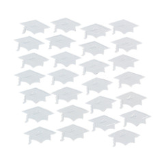 Graduation Mortarboard Confetti, White