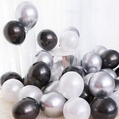 Black, Silver, & White Balloons