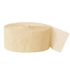 Crepe Streamers, Ivory