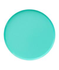 Modern Teal Plates, Large