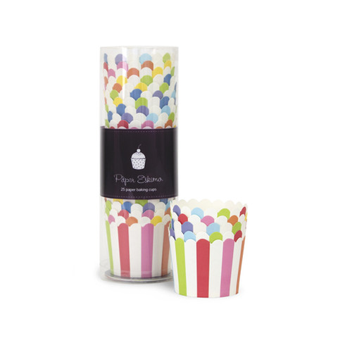 Rainbow Party Striped Baking / Treat Cups
