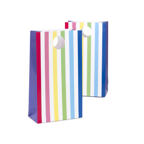 Rainbow Party Striped Treat Bags