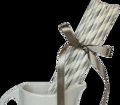 Paper Straws, Stripey Silver