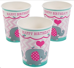 Pink Elephant Cups