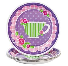 Tea for Two Dessert Plates
