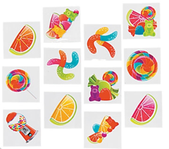 Lollipop Lane Temporary Tattoos