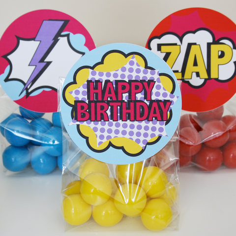 Superhero Treat Bag Topper