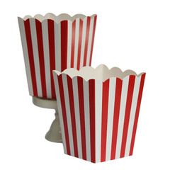 Popcorn Box, Red and White Stripes