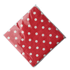 Polka Dot Napkins,  Red with White