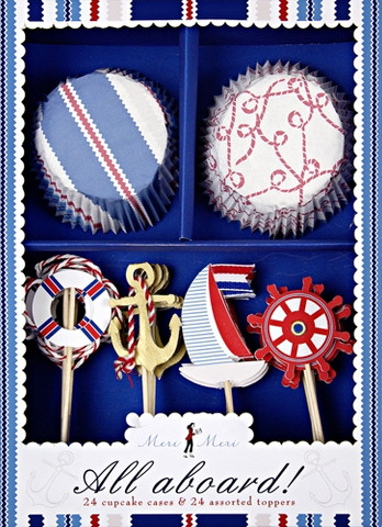 Cupcake toppers and wrappers