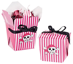 Pink Pirate Treat Boxes