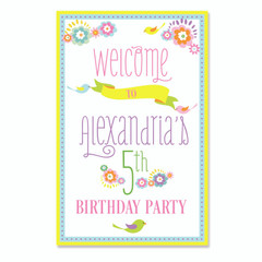 [SALE] Garden Party Welcome Sign, Personalize it!