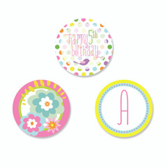 [SALE] Garden Party Stickers, Personalize it!