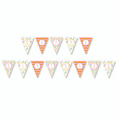 Garden Party Birthday Banner