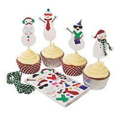 Be Jolly, Build a Snowman Cupcake Decorating Kit