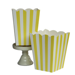 Popcorn Box, Yellow Stripes