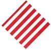 Red and white stripe beverage napkins